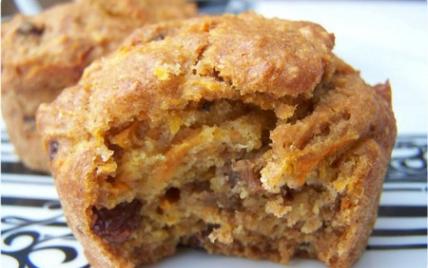 Muffins aux carottes dans gluten