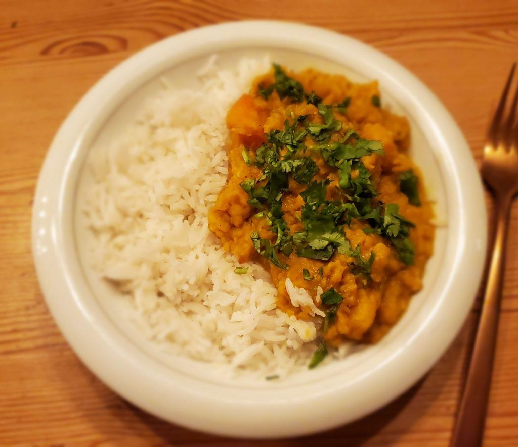 Dahl courge, carotte et patate douce